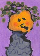 pumpkin, tree, leaves, lagoon monster, gardening
