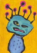 martian, outer space creature, alien, science fiction character, cartoon monster
