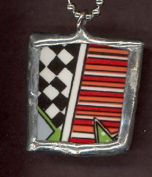 race car flag, checkerboard, man jewels, masculine necklace
