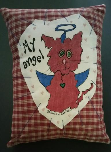 animal pillows, pet gifts, cat angel