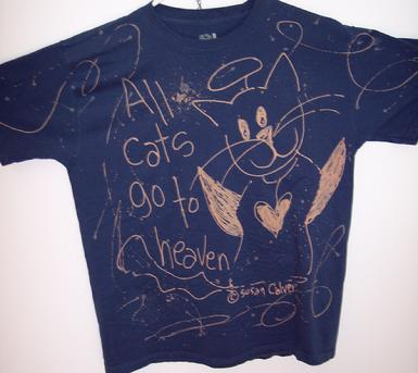 artsy cat lover memories tshirt
