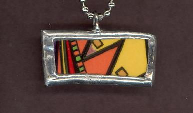 colorful geometric pendant for men